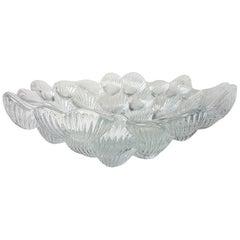Royal Copenhagen Crystal Musling Shell Glass Bowl by Per Lutkin, Denmark
