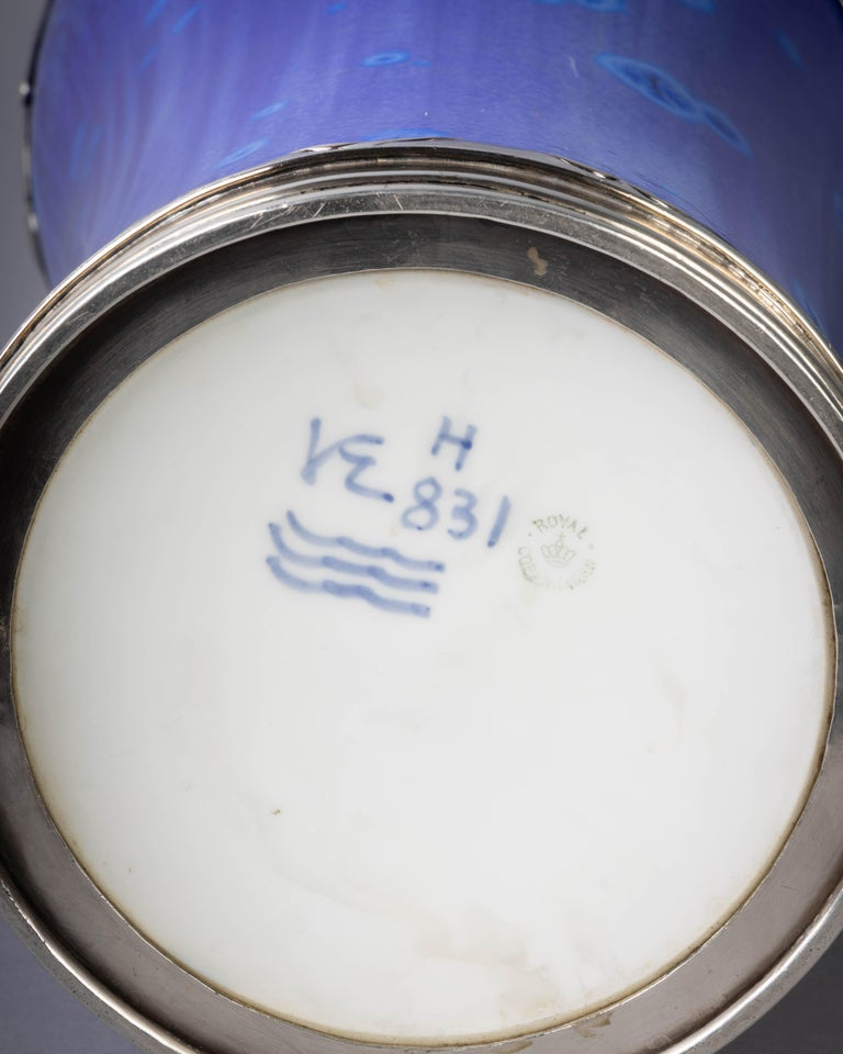 Royal Copenhagen Crystalline Vase, Valdemar Engelhardt, Dated 1915 For Sale 3