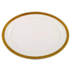 Royal Copenhagen Dagmar, White, Large Oval Serving Dish in Porcelain