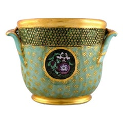 Royal Copenhagen, Early Porcelain Champagne Cooler, Overglaze
