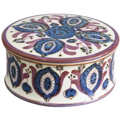 Royal Copenhagen Faience Lidded Pot by Berte Jessen