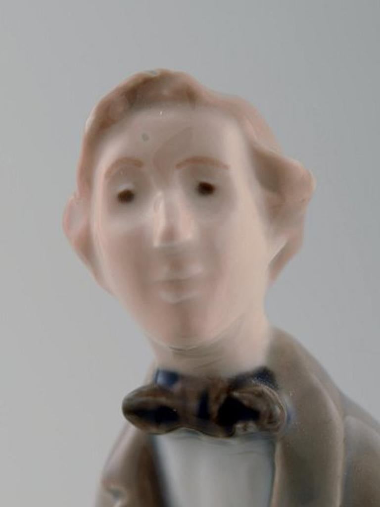 Late 20th Century Royal Copenhagen Figure H.C. Andersen For Sale