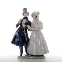 Royal Copenhagen Figurine, Evening Stroll at Tivoli Gardens, Danish Porcelain