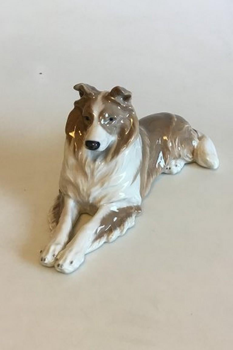 Danish Royal Copenhagen Figurine of Collie No 1701 For Sale