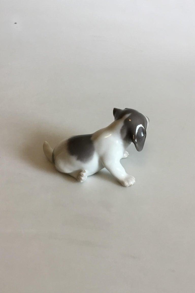 Art Nouveau Royal Copenhagen Figurine of Pointer Puppy No 1311 For Sale