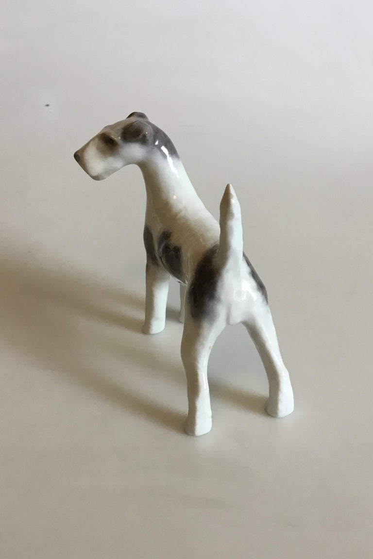 Royal Copenhagen figurine of wirehaired terrier no 3165. Measures: 12 cm / 4 23/32 in.