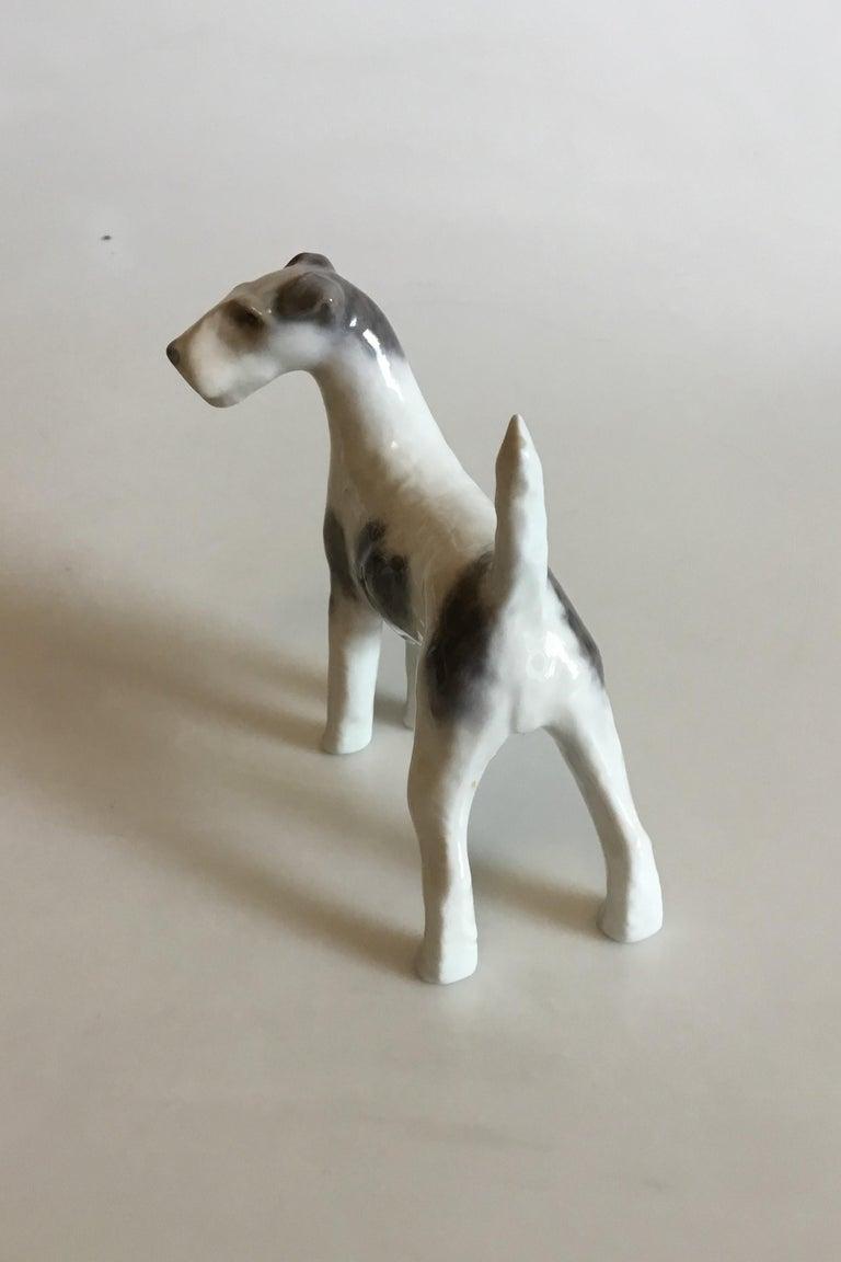 Royal Copenhagen figurine of wirehaired terrier no 3165. Measures: 12 cm / 4 23/32 in.