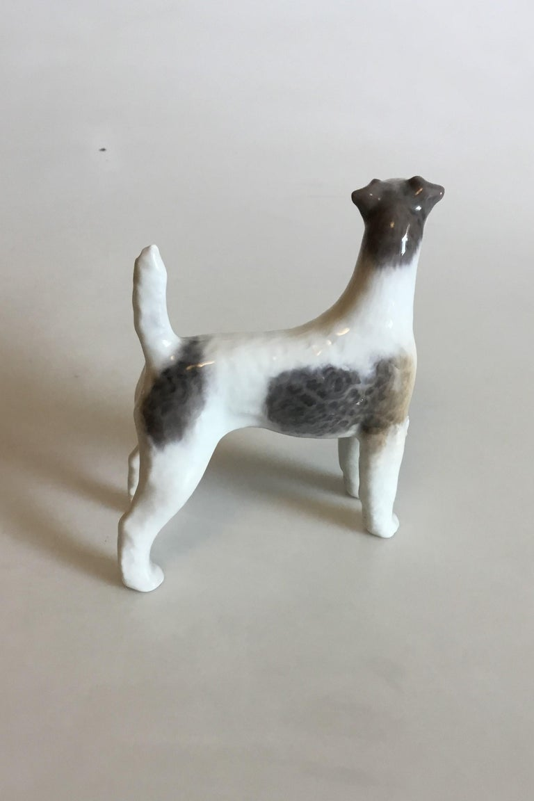 Art Nouveau Royal Copenhagen Figurine of Wirehaired Terrier No 3165 For Sale