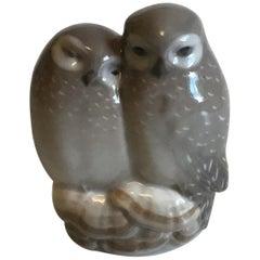 Royal Copenhagen Figurine Pair of Owls No 834