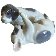 Royal Copenhagen Figurine Pointer Puppies Playing No 453