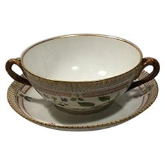 Royal Copenhagen Flora Danica Bouillon Cup with Saucer No. 20/3612
