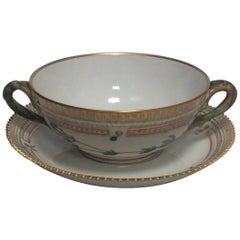 Royal Copenhagen Flora Danica Bouillon Cup with Saucer No 20/3612