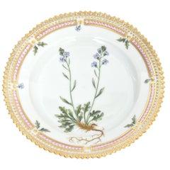 Royal Copenhagen Flora Danica Bread and Butter Plate Cardamine Faeraeensis Horn