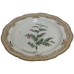 Royal Copenhagen Flora Danica Charger plate with pierced border No 20/3574