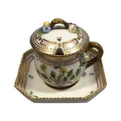 Royal Copenhagen Flora Danica Custard Cup / Mustard Pot No 3589