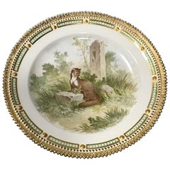 Royal Copenhagen Flora Danica/Fauna Danica Animal Luncheon Plate No 240/3550