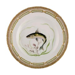 Royal Copenhagen Flora Danica Fish Plate in Hand Painted Porcelain with Fish