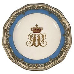 Royal Copenhagen Flora Danica Fruit Plate with Royal or Noble Monogram