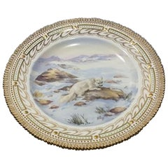 Royal Copenhagen Flora Danica Game Dinner Plate No 239/3549