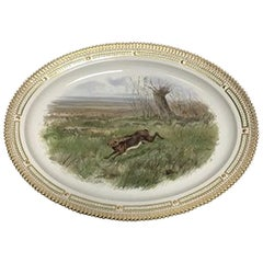 Royal Copenhagen Flora Danica Game, Hare, Large Serving Tray #239/3520