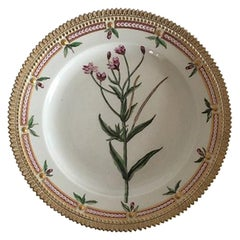 Royal Copenhagen Flora Danica Lunch Plate Rare Arnold Krog Production, 1904