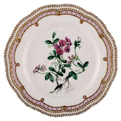 Royal Copenhagen Flora Danica Openwork Dinner Plate, Dated 1956