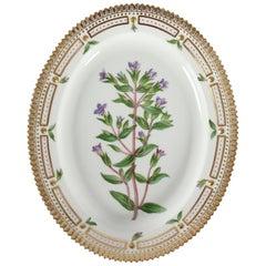 Royal Copenhagen Flora Danica Oval Dish or Platter #3516 from 1949