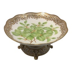 Royal Copenhagen Flora Danica Pedistal Bowl, Antique