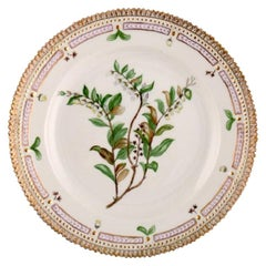 Royal Copenhagen Flora Danica Plate in Hand Painted Porcelain with Flowers