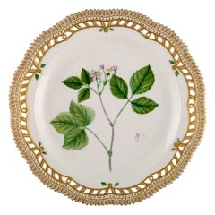 Royal Copenhagen Flora Danica Plate in Openwork Porcelain with Flowers