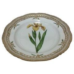 Royal Copenhagen Flora Danica Plate with Pierced Border No 20/3553