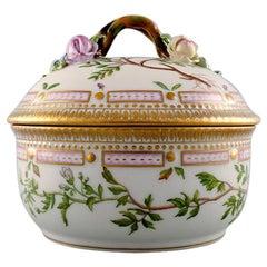 Royal Copenhagen, 'Flora Danica' Porcelain Lidded Bowl