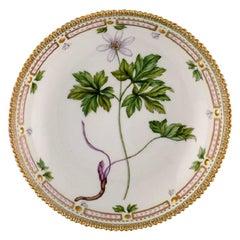 Royal Copenhagen Flora Danica Round Serving Bowl in Hand Painted Porcelain
