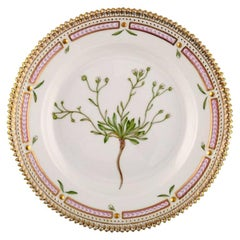Royal Copenhagen Flora Danica Salad Plate in Hand Painted Porcelain with Flowers