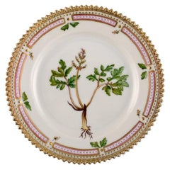 Royal Copenhagen Flora Danica Side Plate in Hand Painted Porcelain with Flowers