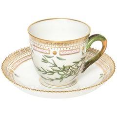 Royal Copenhagen Flora Danica Stellaria sp Coffee Cup and Saucer #20/3597