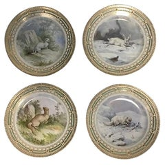 Royal Copenhagen Flora /Fauna Danica Game Lunch Plates No 239A/3550 'Set of 7'