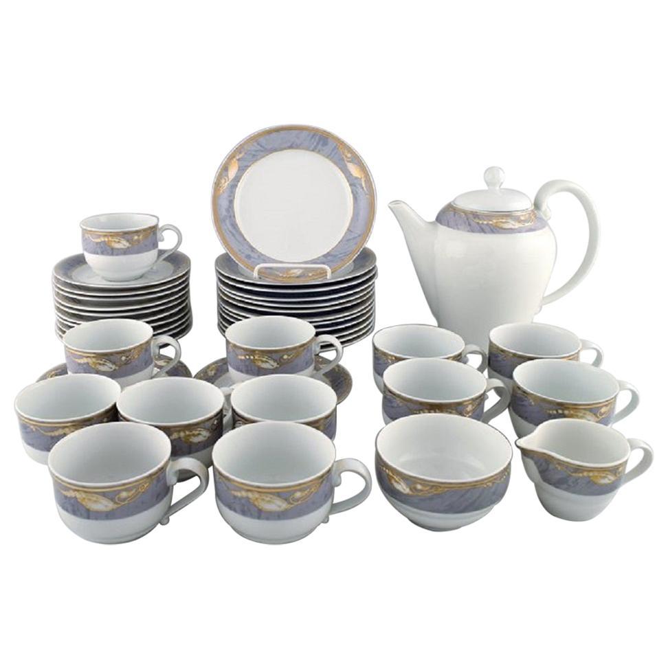 Royal Copenhagen Gray Magnolia, Complete Coffee Service for 12 People