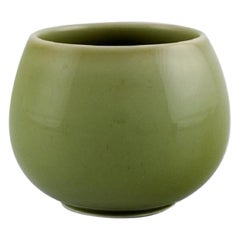 Royal Copenhagen Jar in Glazed Stoneware, Beautiful Celadon Glaze, Danish Design