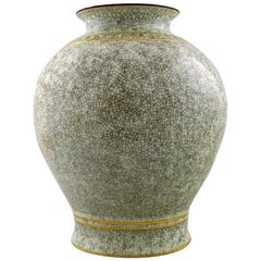 Royal Copenhagen, Large Crackle Porcelain Vase No. 3200