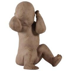 Royal Copenhagen Large Figurine by Terese Lucheschitz Jensen, Sitting boy 3425