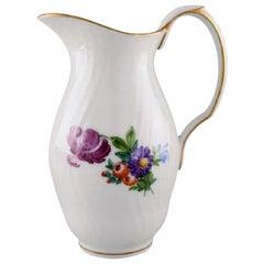 Royal Copenhagen Light Saxon Flower Jug in Hand Painted Porcelain