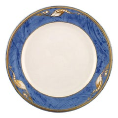 "Royal Copenhagen, ""Magnolia"" Lunch Plate, 12 Pieces in Stock"