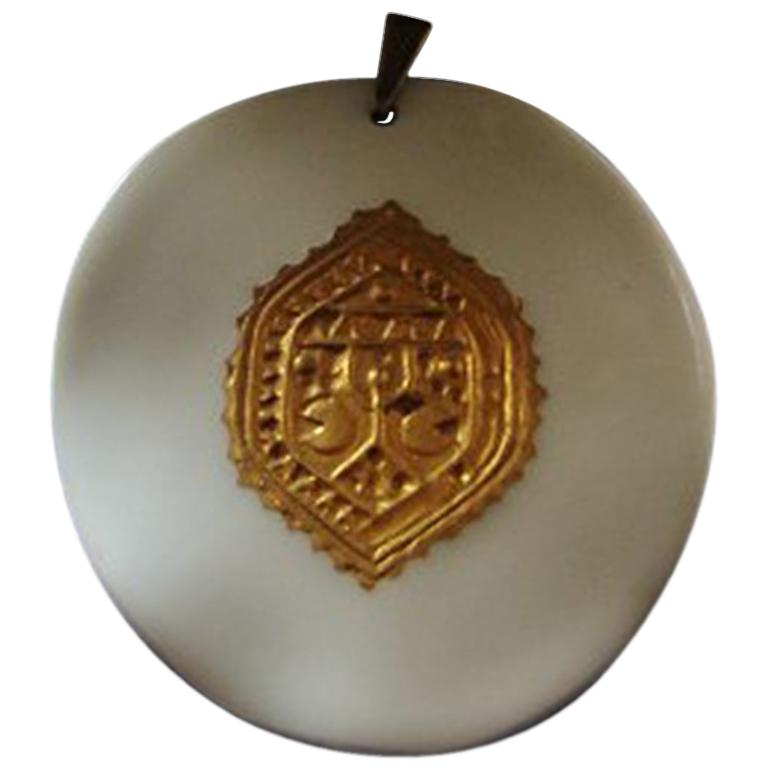 Royal Copenhagen Nils Thorsson Pendent with Chain in Sterling Silver from Anton For Sale