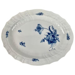 Royal Copenhagen Oval Porcelain Platter in the Blue Flower Pattern