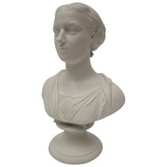 Royal Copenhagen Parian Bust of Eneret, by T. Stein, Dated 1863