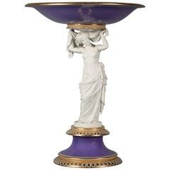 Royal Copenhagen Porcelain Figural Tazza, circa 1820
