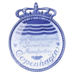 Royal Copenhagen Porcelain Manufactory Advertising Plaque