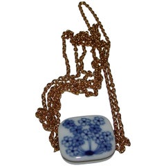 Royal Copenhagen Porcelain Pendant with Chain