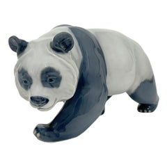 Royal Copenhagen Porcelain Walking Panda Bear by William Timyn, 1976